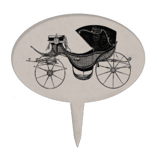 Gray Little Prince Carriage Cake Topper
