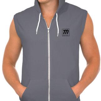 gray magic media sleeveless hoodie
