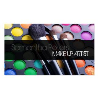 Gray Make Up Artist Palette Brush Business Card