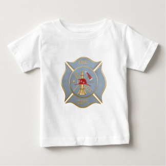 Gray maltese firefighting symbol baby T-Shirt