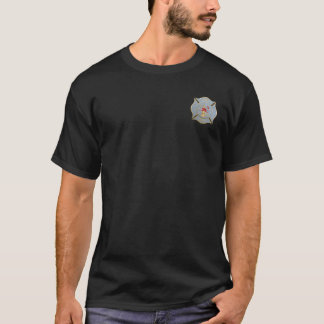 Gray maltese firefighting symbol T-Shirt