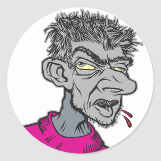 Gray Man Classic Round Sticker