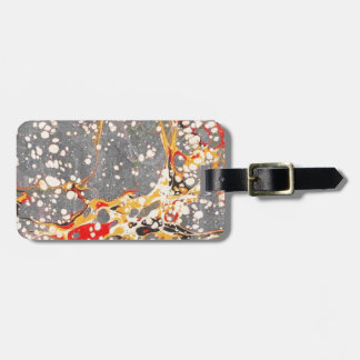 Gray Marble Design Bag Tag