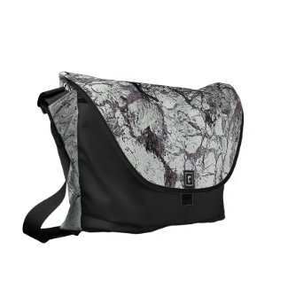 Gray Marble Design Messenger Bag
