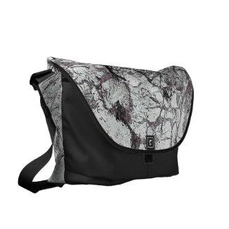 Gray Marble Design Messenger Bag