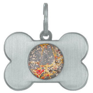 Gray Marble Design Pet ID Tags