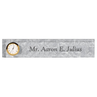 Gray Marble Desk Nameplate Desk Name Plates