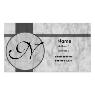 gray marble inlay business card templates