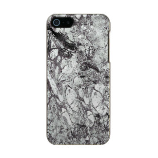 Gray Marble Look Metallic Phone Case For iPhone SE/5/5s