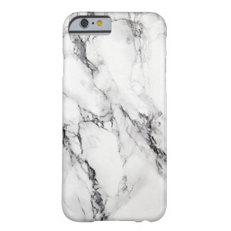 Gray Marble Stone Black Crack Barely There iPhone 6 Case