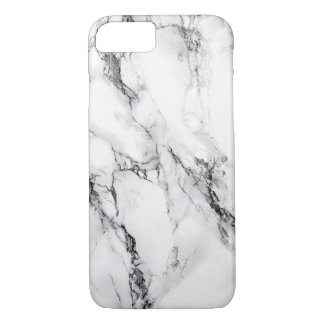Gray Marble Stone Black Crack iPhone 7 Case