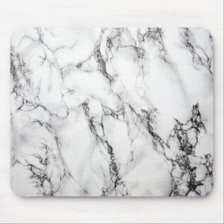 Gray Marble Stone Black Grain Mouse Pad