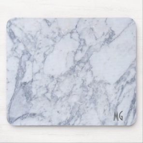 Gray Marble Stone Pattern Mouse Pad