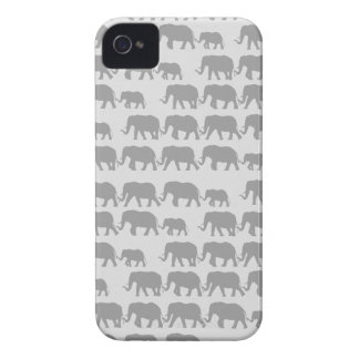 Gray Marching Elephant Family iPhone 4 Case-Mate Cases