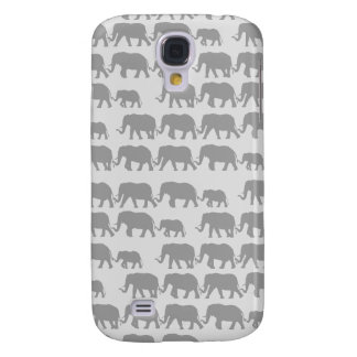 Gray Marching Elephant Family Galaxy S4 Cover