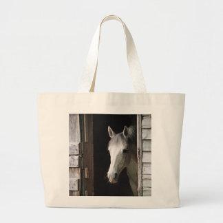 Gray Mare Horse Jumbo Tote