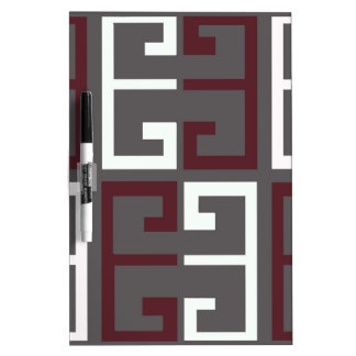 Gray, Maroon and White Tile Dry Erase Board