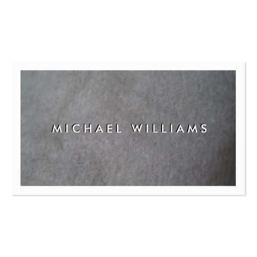 Gray material business card zazzle for Business card material