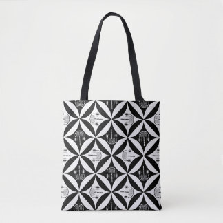 Gray Matter in the Hole in the Barn Door Tote Bag