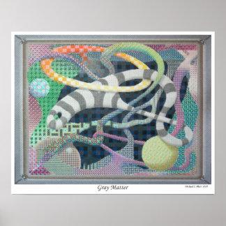 Gray Matter Psychedelic Art Print