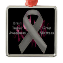Gray Matters - Brain Tumor Awareness Metal Ornament