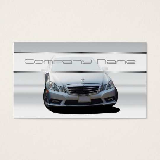 Gray mercedes benz business cards zazzlecom for Mercedes benz business card