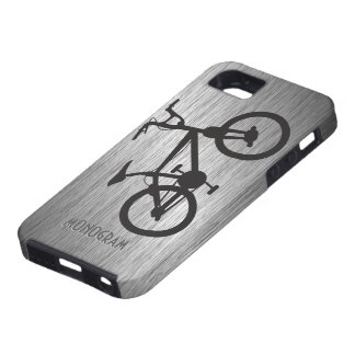 Gray Metallic Look Black Bicycle iPhone 5 Cover