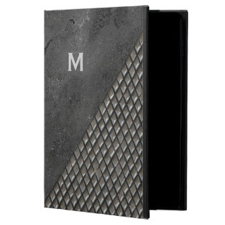 Gray Metallic Look Monogram iPad Air 2 Case Powis iPad Air 2 Case