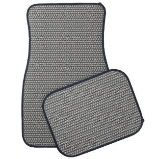 Gray Metallic Woven Look Car Mat Set