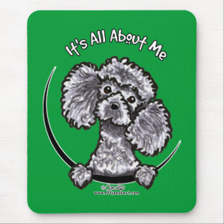 Gray Miniature Toy Poodle IAAM Mouse Pad