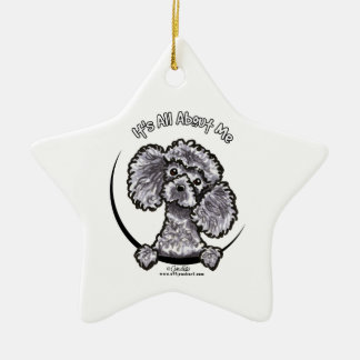 Gray Miniature Toy Poodle IAAM Ornament