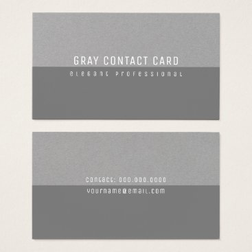 Professional Business gray minimalist elegant and modern business card