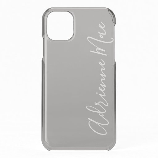 Gray Mist Personalized iPhone 11 Case