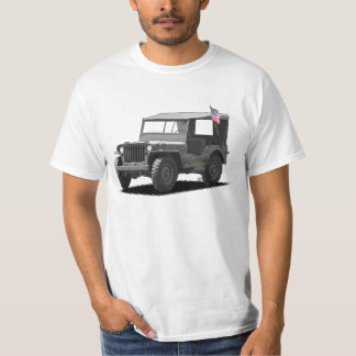 Gray MJ Military Vehicle T-Shirt