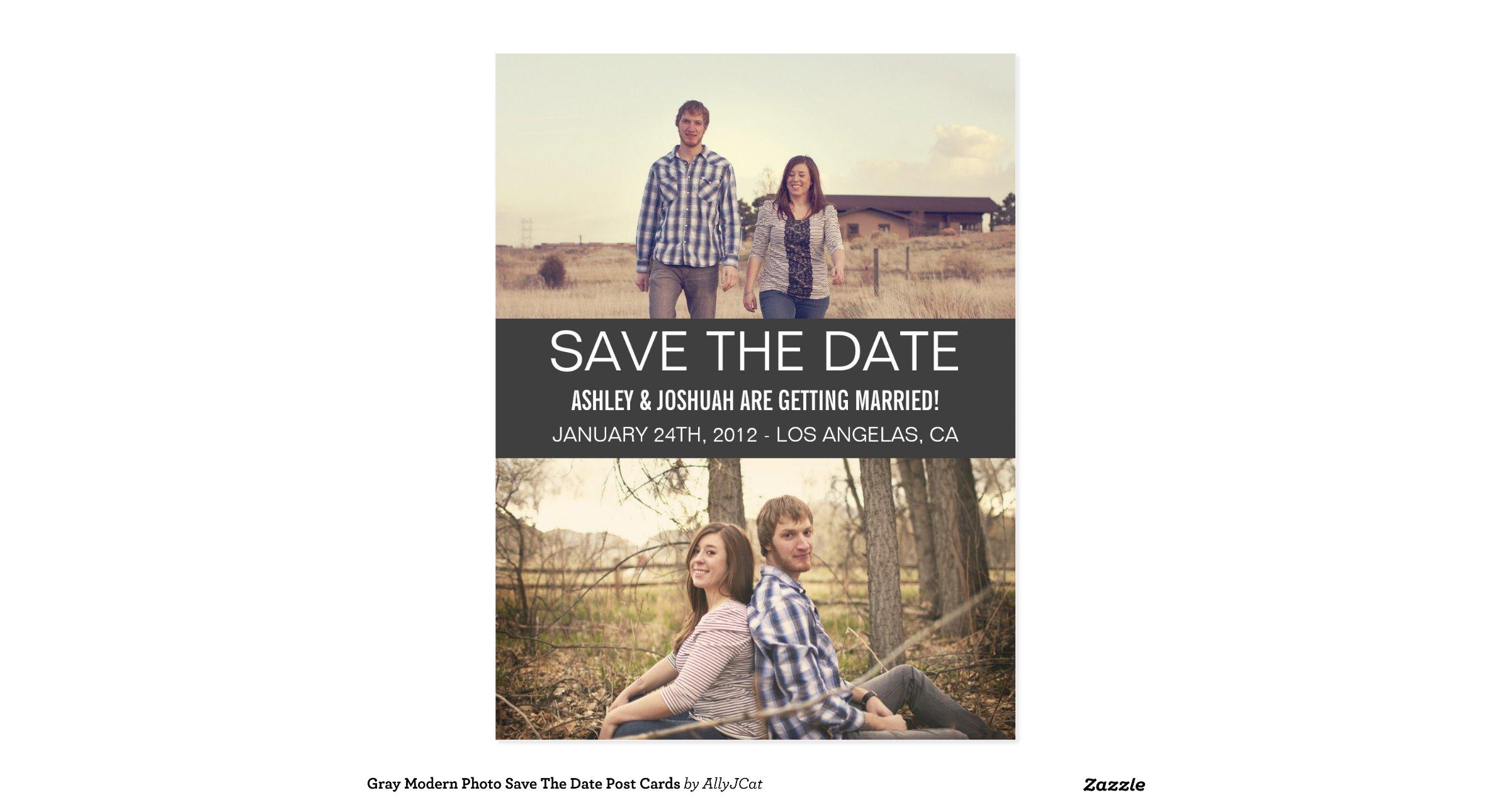 gray modern photo save the date post cards r3ca806b1b29949c1943bee86cbb89858 vgbaq 8byvr 1200
