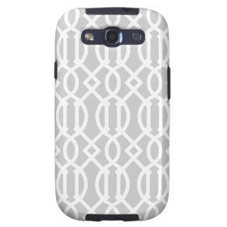 Gray Modern Trellis Pattern Galaxy SIII Cover