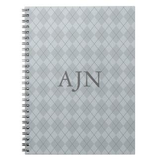 Gray Monogrammed Notebook