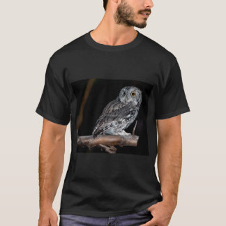 Gray Morph Eastern Screech-Owl at Midnight T-Shirt