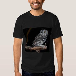 Gray Morph Eastern Screech-Owl at Midnight Tee Shirt