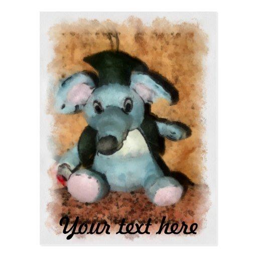 Gray mouse postcard