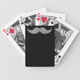 Gray Mustache Deck of Playing Cards Bicycle Playing Cards