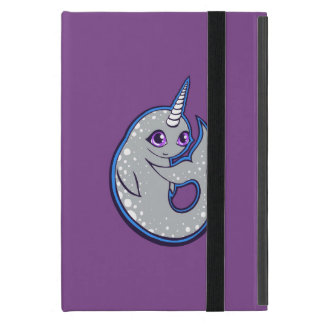 Gray Narwhal Whale With Spots Ink Drawing Design Cover For iPad Mini
