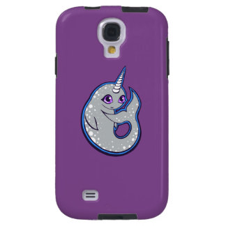 Gray Narwhal Whale With Spots Ink Drawing Design Galaxy S4 Case