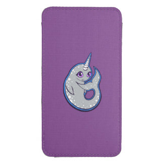 Gray Narwhal Whale With Spots Ink Drawing Design Galaxy S4 Pouch