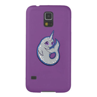 Gray Narwhal Whale With Spots Ink Drawing Design Galaxy S5 Case
