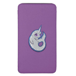 Gray Narwhal Whale With Spots Ink Drawing Design Galaxy S5 Pouch