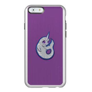 Gray Narwhal Whale With Spots Ink Drawing Design Incipio Feather Shine iPhone 6 Case