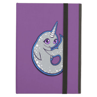 Gray Narwhal Whale With Spots Ink Drawing Design iPad Air Cover