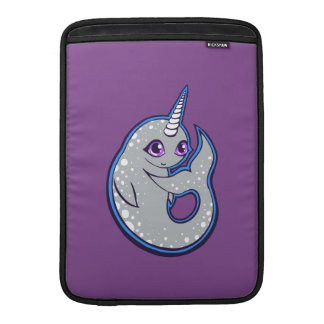 Gray Narwhal Whale With Spots Ink Drawing Design MacBook Air Sleeves