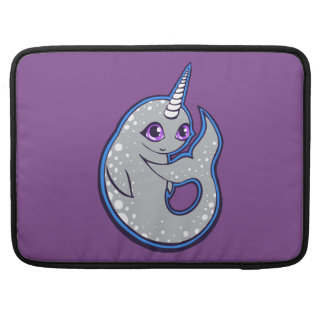 Gray Narwhal Whale With Spots Ink Drawing Design MacBook Pro Sleeves